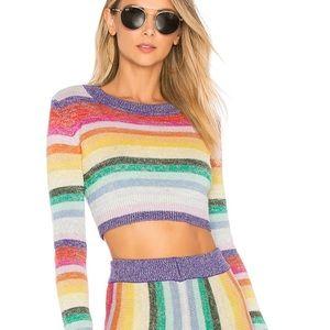 Lovers + Friends believe sweater in multi color